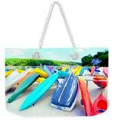 Colorful Canoes Weekender Tote Bag