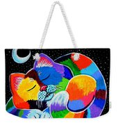 Colorful Cat In The Moonlight Weekender Tote Bag