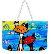 Colorful Cats Weekender Tote Bag
