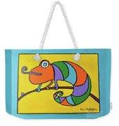 Colorful Chameleon Weekender Tote Bag