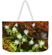 Colorful Chickweed Weekender Tote Bag