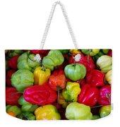 Colorful Chili Pepper Weekender Tote Bag