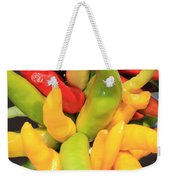 Colorful Chili Peppers  Weekender Tote Bag