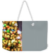Colorful Christmas Background Weekender Tote Bag by Benny Marty