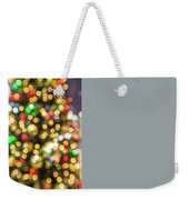 Colorful Christmas Lights Weekender Tote Bag by Benny Marty