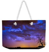 Colorful Cloud To Cloud Lightning Weekender Tote Bag