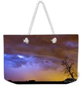 Colorful Cloud To Cloud Lightning Stormy Sky Weekender Tote Bag by James BO  Insogna