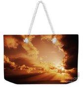 Colorful Cloudburst Weekender Tote Bag