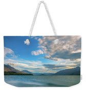 Colorful Clouds At Golden Hour On Lake Wakatipu At Glenorchy, Nz  Weekender Tote Bag