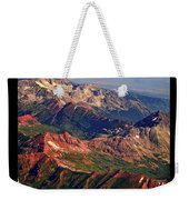 Colorful Colorado Rocky Mountains Planet Art Poster  Weekender Tote Bag