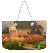 Colorful Cottage Cape Cod Weekender Tote Bag