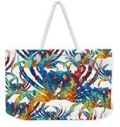 Colorful Crab Collage Art By Sharon Cummings Weekender Tote Bag