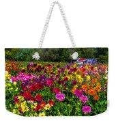 Colorful Dahlias In Garden Weekender Tote Bag