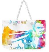 Colorful Dirty Harry Weekender Tote Bag