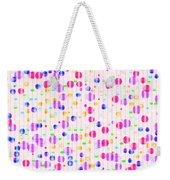 Colorful Dots On Pink Weekender Tote Bag