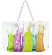 Colorful Drink Splashing From Glasses Weekender Tote Bag