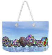 Colorful Eggs For Easter - 3d Render Weekender Tote Bag