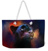 Colorful Expressions Black Leopard Weekender Tote Bag