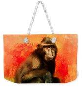 Colorful Expressions Black Monkey Weekender Tote Bag
