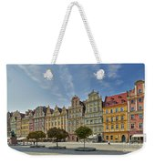 colorful facades on Market Square or Ryneck of Wroclaw Weekender Tote Bag