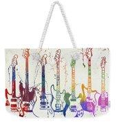Colorful Fender Guitars Paint Splatter Weekender Tote Bag