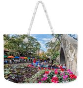 Colorful Festival Along River Walk Weekender Tote Bag