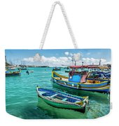 Colorful Fishing Boats Weekender Tote Bag
