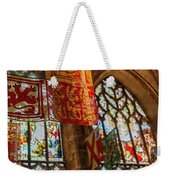 Colorful Flags And Stained Glasss Windows Weekender Tote Bag