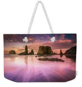 Colorful Flux From Seastacks Weekender Tote Bag