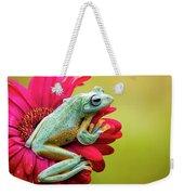 Colorful Frog Weekender Tote Bag