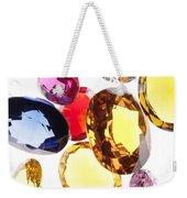 Colorful Gems Weekender Tote Bag by Setsiri Silapasuwanchai