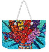 Colorful Gladiolus Weekender Tote Bag
