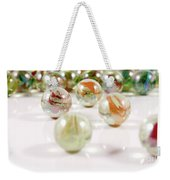 Colorful Glass Marbles Close-up Views Weekender Tote Bag
