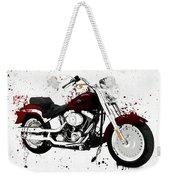 Colorful Harley Davidson Paint Splatter Weekender Tote Bag