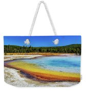 Colorful Hot Spring In Yellowstone Weekender Tote Bag
