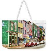 Colorful Houses In St Johns In Newfoundland Weekender Tote Bag