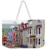 Colorful Houses In St. Johns, Nl Weekender Tote Bag