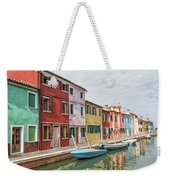 Colorful Houses On The Island Of Burano Weekender Tote Bag