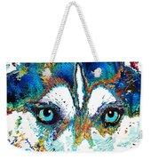 Colorful Husky Dog Art By Sharon Cummings Weekender Tote Bag
