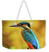Colorful Kingfisher Weekender Tote Bag