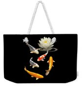 Colorful Koi With Water Lily Weekender Tote Bag