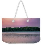 Colorful Lake-side Sunset Weekender Tote Bag