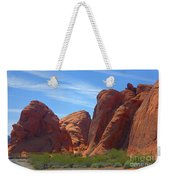 Colorful Landscape Rock Mountains Of Overton Nevada  Weekender Tote Bag