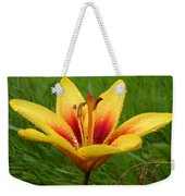 Colorful Lily Dew Drops Weekender Tote Bag