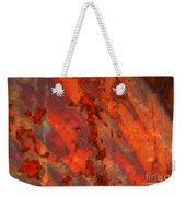 Colorful Metal Abstract With Border Weekender Tote Bag