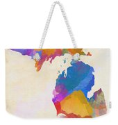 Colorful Michigan Weekender Tote Bag