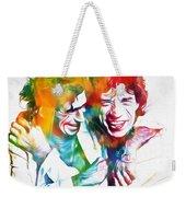 Colorful Mick And Keith Weekender Tote Bag