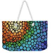 Colorful Mosaic Art - Blissful Weekender Tote Bag
