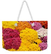 Colorful Mum Flowers Fine Art Abstract Photo Weekender Tote Bag