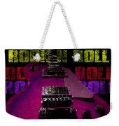 Colorful Music Rock N Roll Guitar Retro Distressed T-shirt Weekender Tote Bag